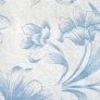 09 - Corino floral branco azul -                               Cadeiras cromadas para cozinha ARTI