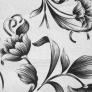 11 - Corino Floral branco preto -                           Cadeiras cromadas para cozinha ARTRI