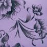 13 - Corino floral lilás preto -                         Cadeiras para cozinha