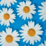 07 -Corino Floral Margarida Azul -                         Cadeiras cromadas para cozinha ARTRI