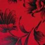14 - Corino Flora vermelho preto -                         Cadeiras cromadas para cozinha ARTRI