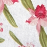 16 - Corino Floral vermelho branco -                         Cadeiras cromadas para cozinha ARTRI
