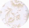 Amostra de Corvin Floral Branco Bege - Banquetas Kalossi