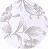 Amostra de Corvin Floral Branco Cinza - Banquetas Kalossi