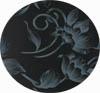 Banquetas Sidamo - Courvin floral preto                         cinza