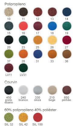 Cores disponíveis para cadeiras para costureira             executiva tecido vermelho