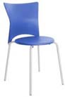 Cadeira bistrô Rhodes polipropileno azul