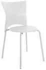 Cadeira bistrô Rhodes polipropileno branco