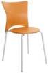 Cadeira Bistrô polipropileno laranja