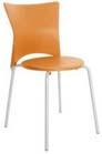 Cadeira bistr� Rhodes polipropileno laranja