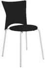 Cadeira bistrô Rhodes polipropileno preto