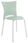 Cadeira bistrô Rhodes polipropileno verde claro