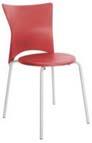 Cadeira bistrô Rhodes polipropileno vermelho