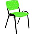 Cadeira Sigma empilhável preto pp verde