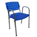 Cadeiras Sigma cromadas empilháveis com braços
