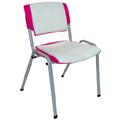 Cadeiras Sigma cromadas empilháveis estofadas