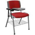 Cadeiras Sigma estofada prancheta escamoteável porta livros