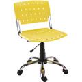 Cadeiras Sigma giratória cromada polipropileno amarelo