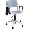 Cadeiras Sigma giratórias com braços e prancheta escamoteável