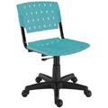 Cadeiras Sigma giratórias base preta pp petróleo