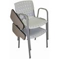Cadeira Sigma com prancheta empilhável