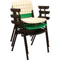 Cadeiras Sigmas empilháveis com braços diversas cores