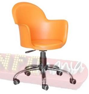 Cadeira Gogo giratória cromada laranja