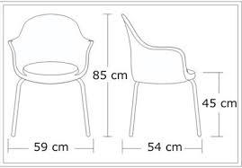 Cadeiras Boston Gogo desenho técnico
