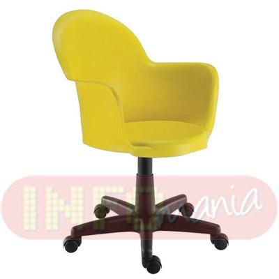 Cadeira Gogo com braços giratória                              alumínio polipropileno amarelo