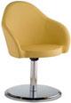 Cadeira Gogo estofada base disco