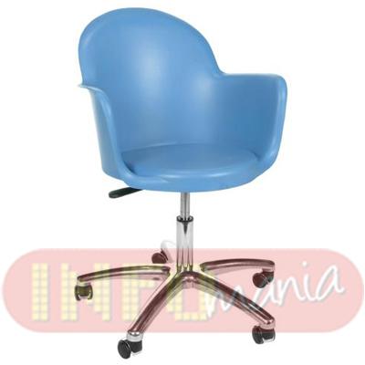 Cadeira Gogo com braços giratória polipropileno azul