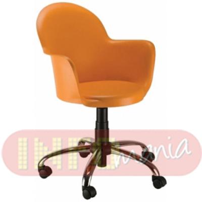 Cadeira Gogo com braços giratória polipropileno laranja