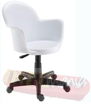 Cadeira Gogo braço giratória base preta