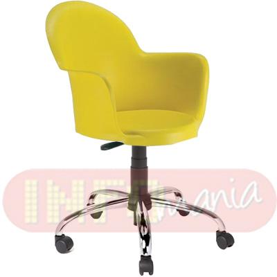 Cadeira Gogo com braços giratória polipropileno amarelo