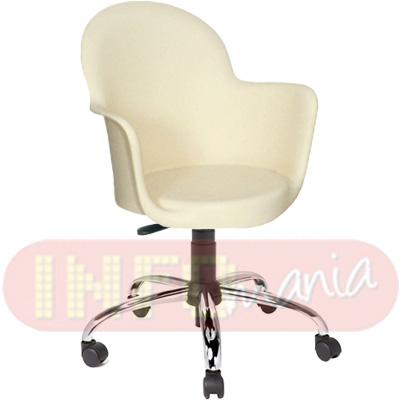Cadeira Gogo com braços giratória polipropileno areia
