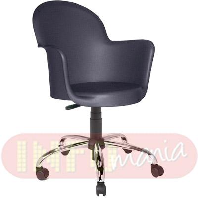 Cadeira Gogo com braços giratória polipropileno preto