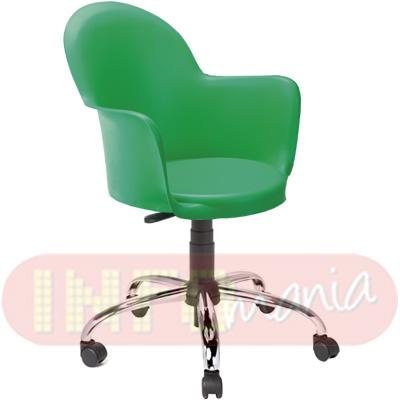 Cadeira Gogo com braços giratória polipropileno verde bandeira