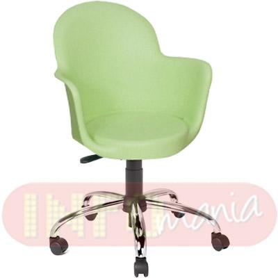 Cadeira Gogo com braços giratória polipropileno verde claro