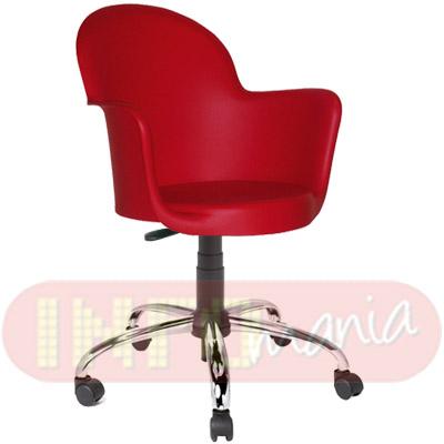 Cadeira Gogo com braços giratória polipropileno vermelho