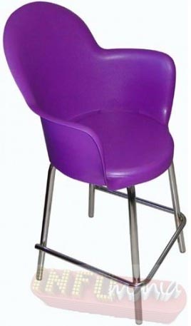 Banqueta Gogo cromada púrpura