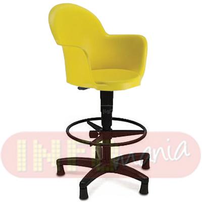 Cadeira Gogo caixa giratória com aro polipropileno amarelo