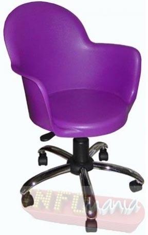 Cadeira Gogo giratória cromada púrpura