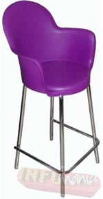 Banqueta Gogo Office alta púrpura