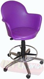 Cadeira Gogo Office caixa púrpura