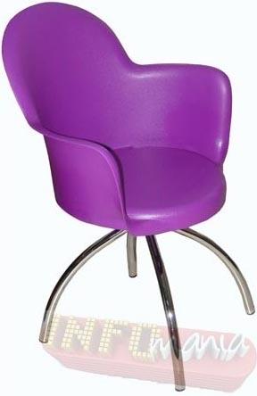 Cadeira Gogo raio cromada púrpura