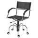 Cadeira em Couro para Escritório Natural Secretária             Giratória Cromada Braço Curvo Gás Spyder SU1033CVO