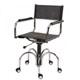 Cadeira em Couro para Escritório Natural Secretária             Giratória Cromada Braço Reto Gás SU1033RTO