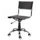 Cadeira de Couro para Escrit�rio Natural Secret�ria Girat�ria Cromada SU1206