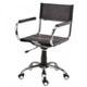 Cadeira em Couro para Escritório Natural Secretária             Giratória Cromada Braço Aberto SU1206ABE