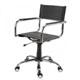 Cadeira em Couro para Escritório Natural Secretária             Giratória Cromada Braço Reto SU1206RTO